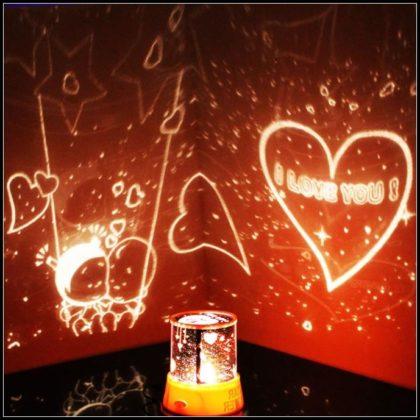 Projeksiyonlu Romantik Gece Lambası - Hediyemen