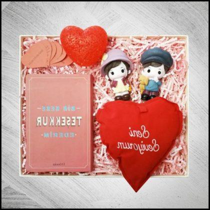 Romantik Sevgiliye Teşekkür Ederim Hediye Kutusu | Sevgiliye
