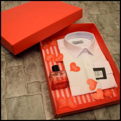 Sevgiliye Özel Gömlek & Parfüm Hediye Kutusu